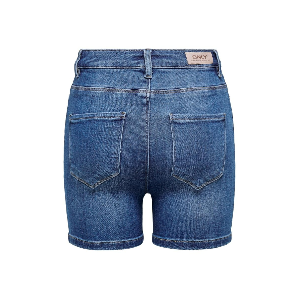 onlmila hw shorts bb bj184-2 15198253 only korte broek medium blue denim