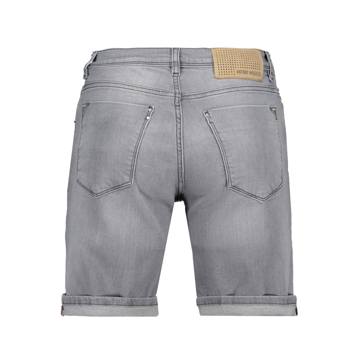 short skinny dave mmds00072 antony morato korte broek grey steel