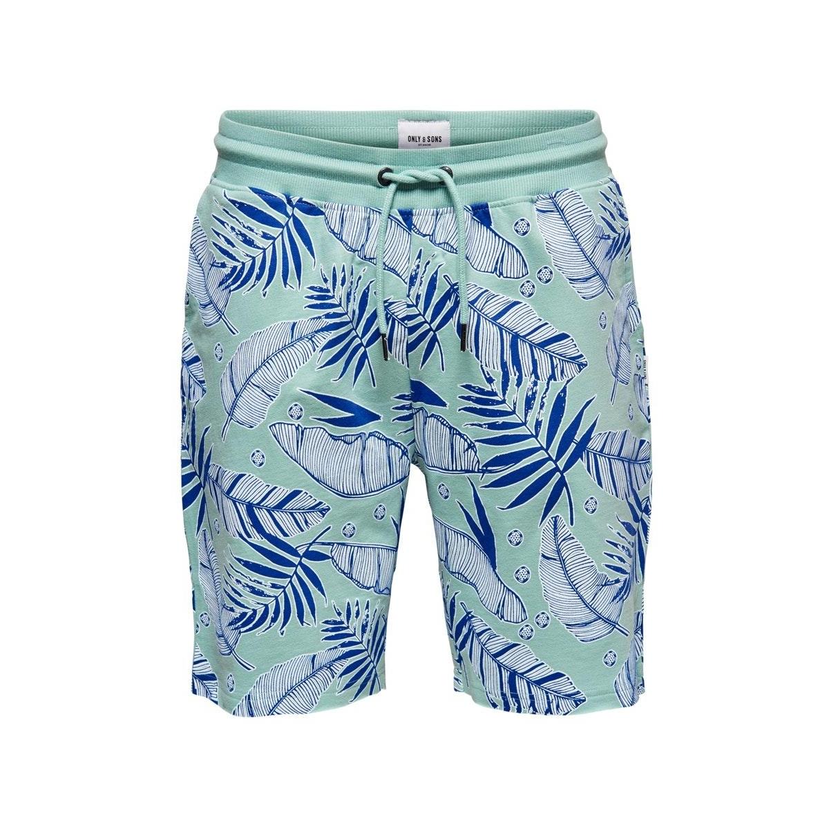 onsbolt aop sweat shorts 22016252 only & sons korte broek aquifer