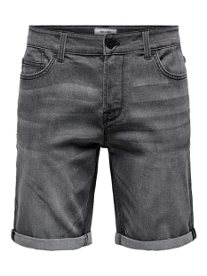 onsply grey pk 4411 1444 22014411 only & sons korte broek grey denim