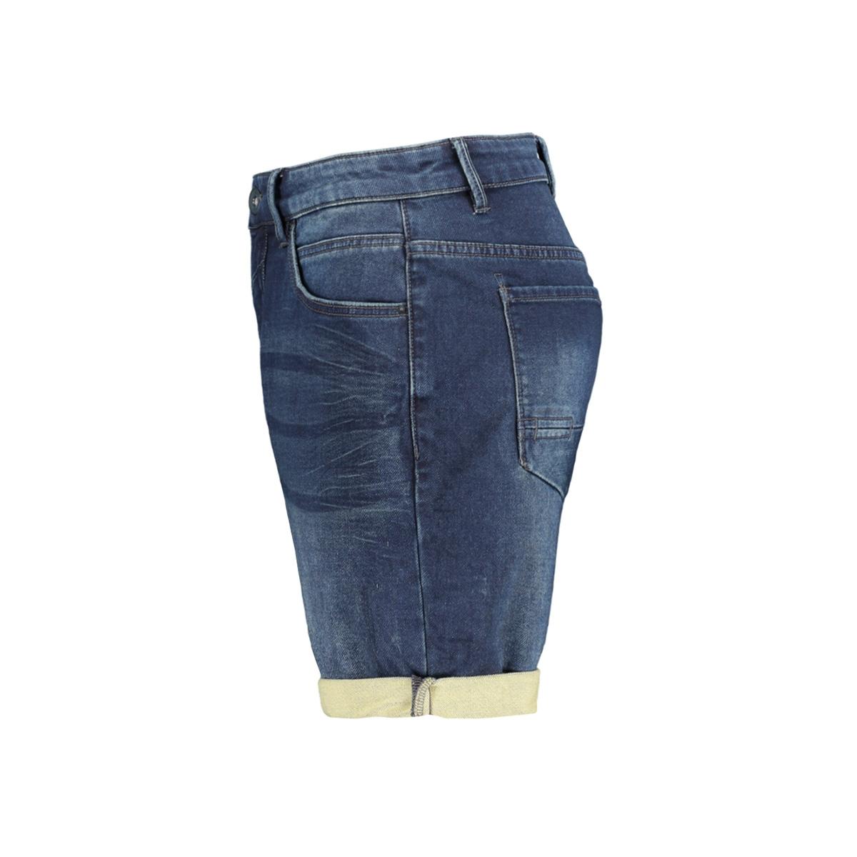 jog denim stretch short 958190301 no-excess korte broek 221 dark denim