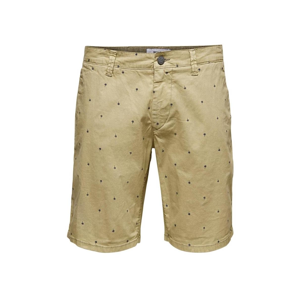 onsholm chino shorts aop pk 6081 22016081 only & sons korte broek chinchilla