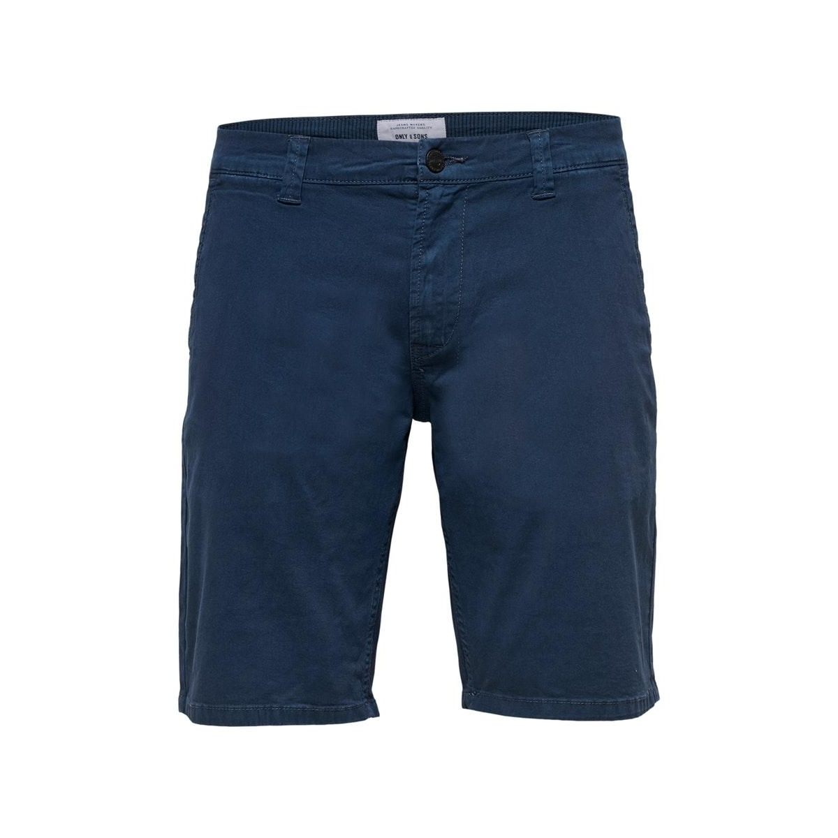 onsholm chino shorts  pk 2174 noos 22012174 only & sons korte broek dress blues
