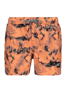 Superdry Korte broek TIE DYE VOLLEY SWIM SHORT M3010030A CORAL TIE DYE