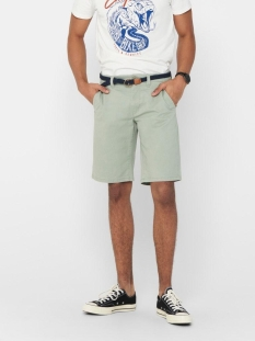 Only & Sons Korte broek ONSWILL CHINO SHORTS BELT PK 6557 NOOS 22016557 Seagrass