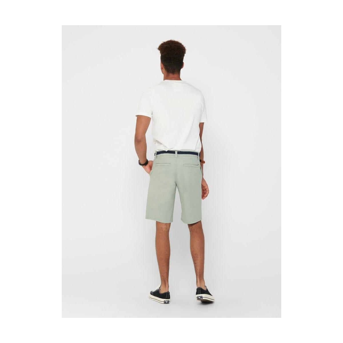 onswill chino shorts belt pk 6557 noos 22016557 only & sons korte broek seagrass