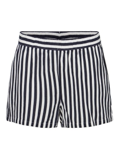 Vero Moda Korte broek VMHELENMILO SHORT SHORTS STRIPE WVN 10228971 Night Sky/SNOW WHITE