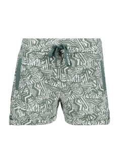 Zoso Korte broek PLAYA ALLOVER PRINTED SHORT 203 WHITE/ARMY