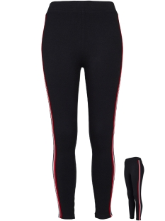 Urban Classics Legging TB1936 3 TONE TAPE LEGGING BLACK FIRERED