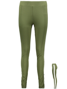 Zoso Legging LEGGING WITH BUTTON HR1920 ARMY/OFFWHITE