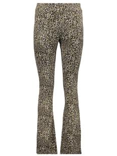 flared jacquard leopard 91555 geisha broek sand combi