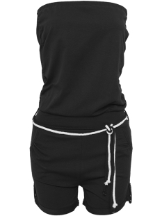 Urban Classics Jumpsuit TB921 HOT TURNUP JUMPSUIT BLACK