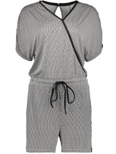 aiko short jumpsuit 193 zoso jumpsuit black/white