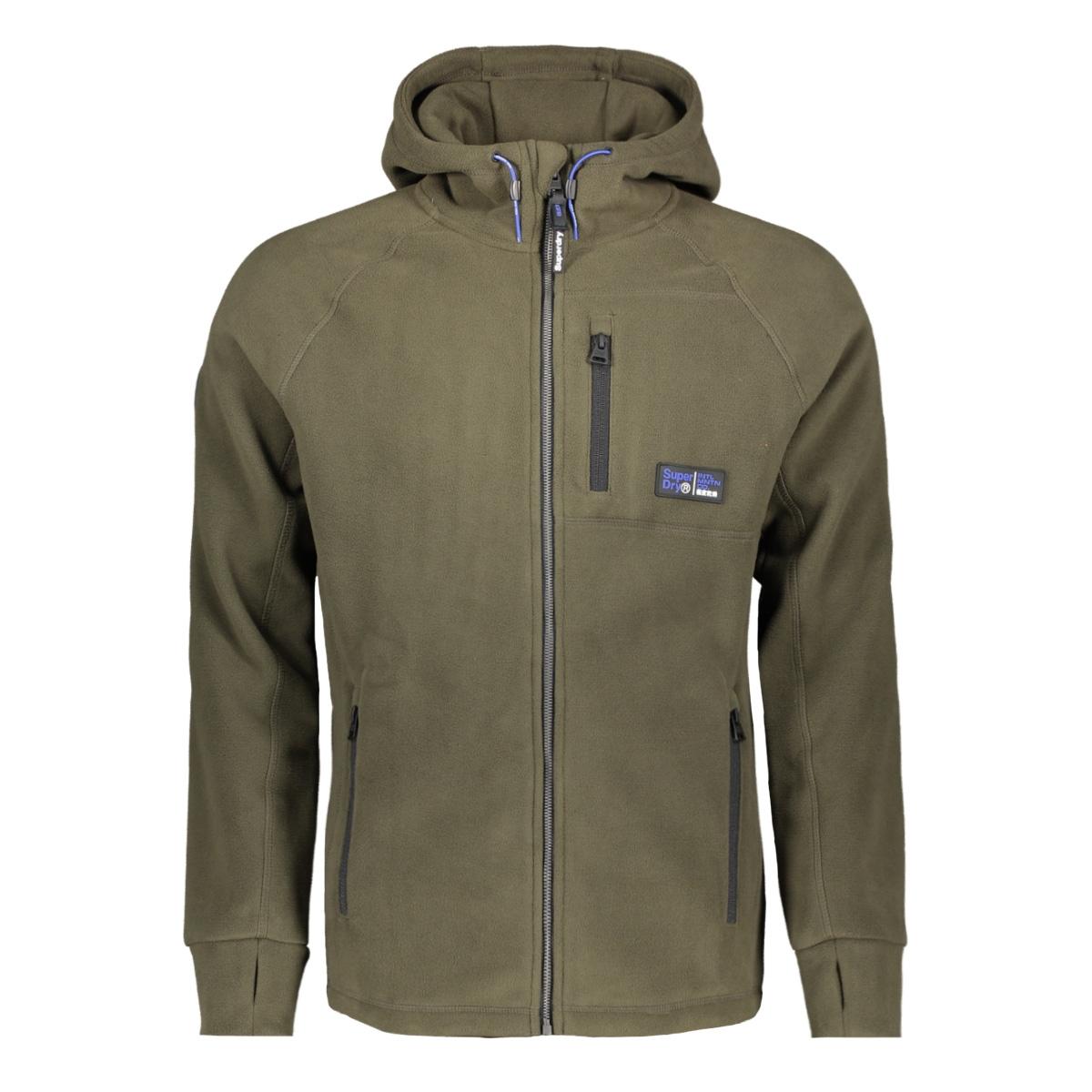 polar fleece ziphood m2000029a superdry vest olive