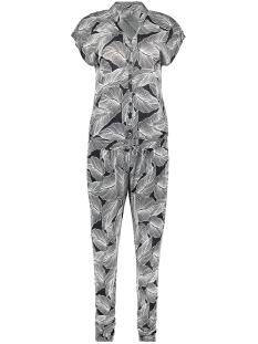 jumpsuit aop jersey cleo 0107760 geisha jumpsuit pr11bl/wh leaves