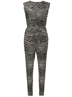 jumpsuit zebra belt sleeveless 01412 20 geisha jumpsuit black/off-white
