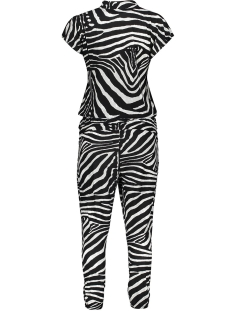 jumpsuit aop jersey cleo 00400 60 geisha jumpsuit black/grey zebra