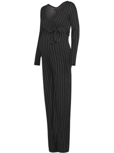 s0851 jumpsuit is pinstripe supermom  c279 black stripe