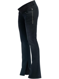 SuperMom Positie broek S0870 JEANS OTB FLARED SLIT C309 BLACK DENIM