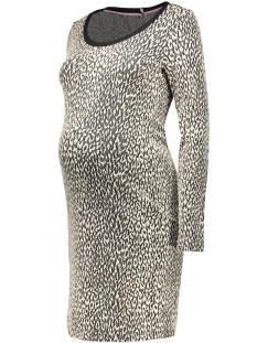 s0350 dress jacquard animal supermom positie jurk c010 off white