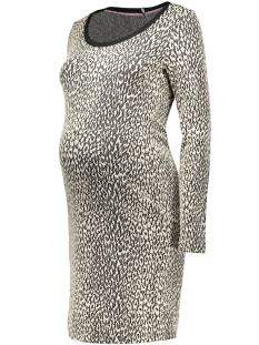 SuperMom Positie jurk S0350 DRESS JACQUARD ANIMAL C010 off white