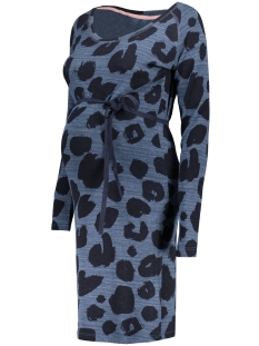 SuperMom Positie jurk S0351 DRESS LEOPARD DARK PETROL