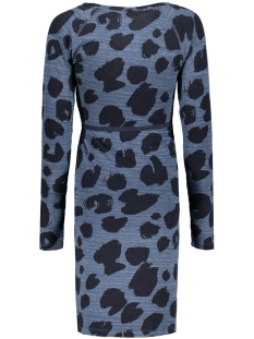 s0351 dress leopard supermom positie jurk dark petrol