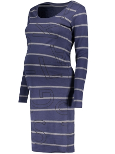 s0352 dress stripe supermom positie jurk navy