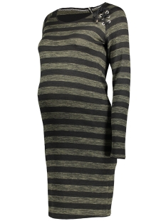 SuperMom Positie jurk S0360 STRIPE DRESS Army Melange