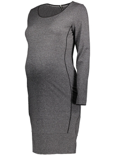 SuperMom Positie jurk S0362 DRESS BLOCKING Anthracite