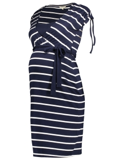 Noppies Positie jurk 70113 DRESS LOTTA C165 DARK BLUE