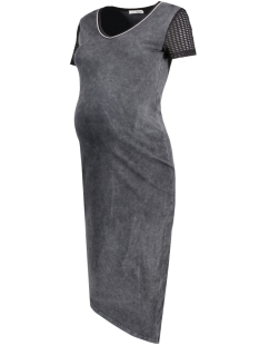 SuperMom Positie jurk S0444 DRESS MID GREY Washed Grey