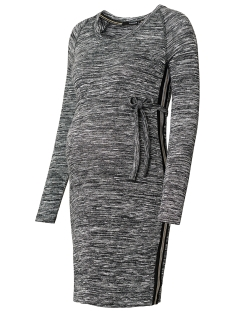 SuperMom Positie jurk S0563 DRESS MELANGE DARK GREY