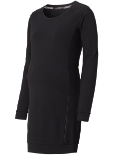 SuperMom Positie jurk S0611 DRESS BLACK PU Black