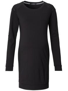 s0611 dress black pu supermom positie jurk black