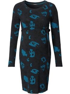 s0612 dress leopard supermom positie jurk blue
