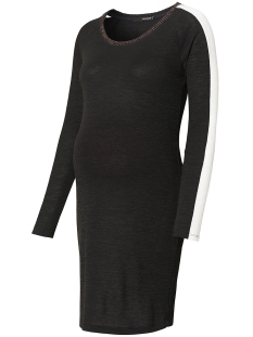SuperMom Positie jurk S0661 DRESS RIBBING BLACK