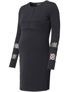 SuperMom Positie jurk S0662 DRESS LAYERED BLACK