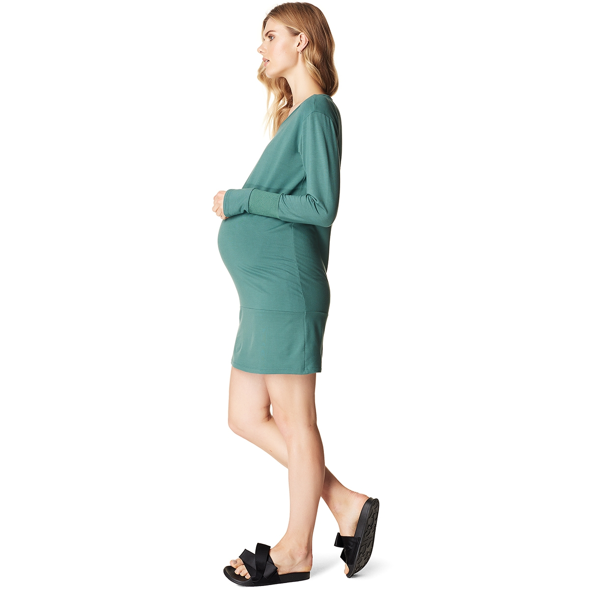 s0704 dress sweat supermom positie jurk green