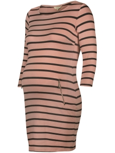 Noppies Positie jurk 80110 DRESS ANKE PINK STRIPE