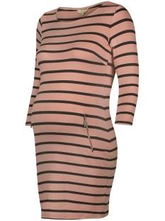 Noppies Positie jurk 80110 DRESS ANKE PINK STRIPE