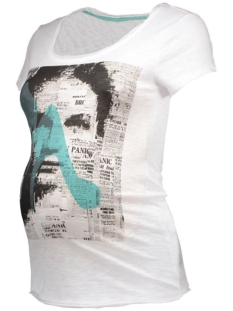 s0330 tee ss newspaper supermom positie shirt c001 white