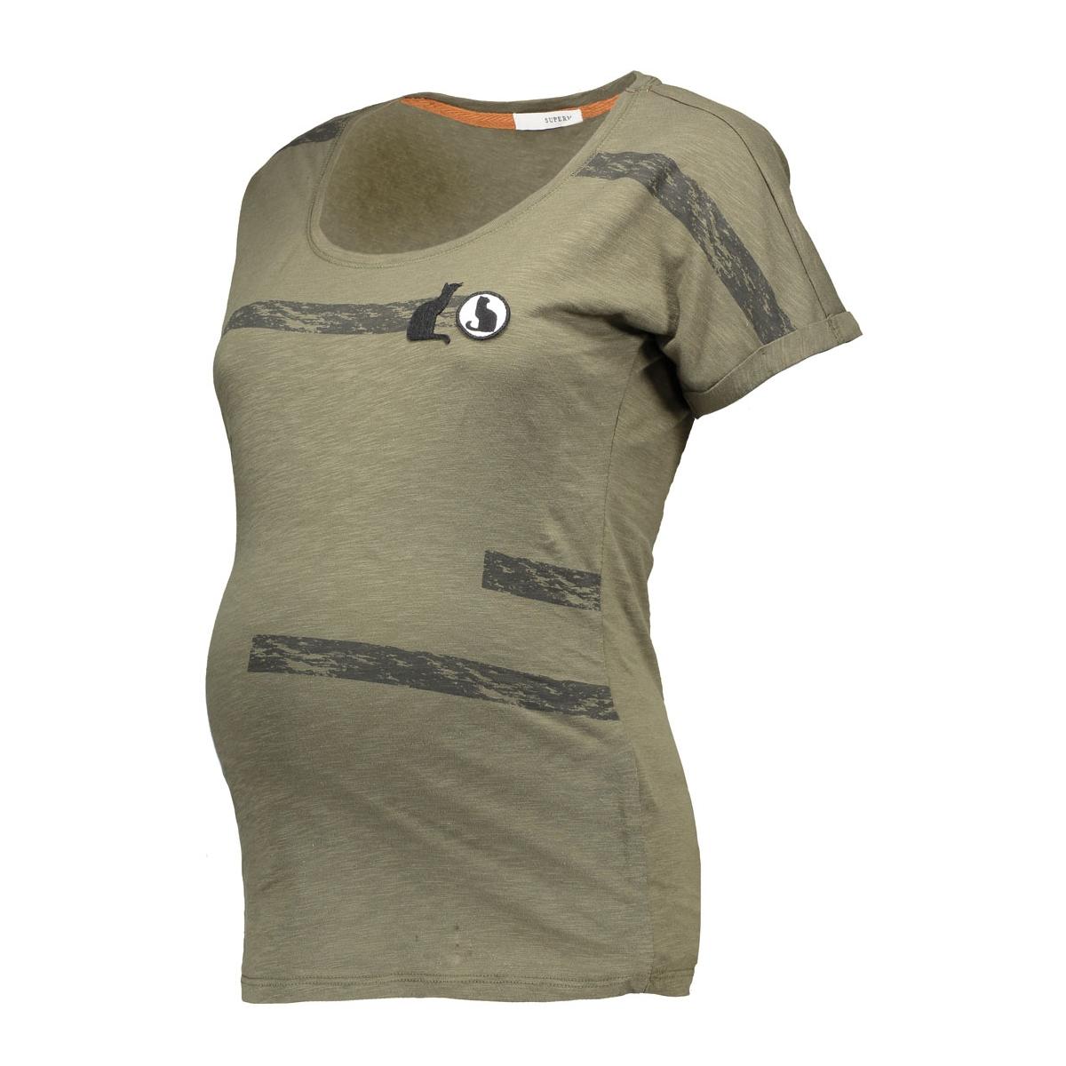 s0347 tee army supermom positie shirt c205 dark army