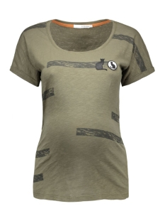 s0347 tee army supermom positie shirt c205 dark army