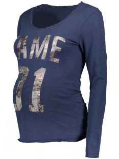 s0359 tee fame supermom positie shirt navy