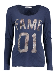 s0359 tee fame supermom positie shirt navy