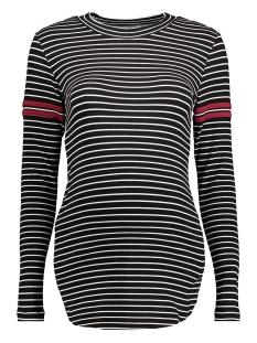 s0364 tee stripe supermom positie shirt c270 black