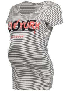 SuperMom Positie shirt S0457 TEE LOVE White Stripe