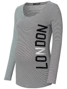SuperMom Positie shirt S0604 TEE TEKST BLACK STRIPE