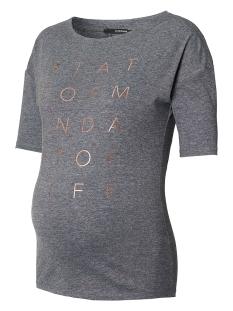 SuperMom Positie shirt S0651 TEE PRINT ANTRACITE